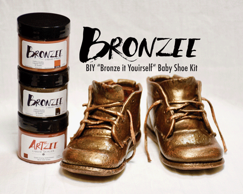 """BIY """"Bronze IT Yourself Kit"""" Baby Shoes"""
